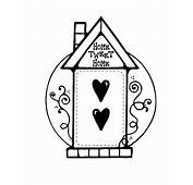 Home Sweet Bird House Coloring Pages  Best Place To