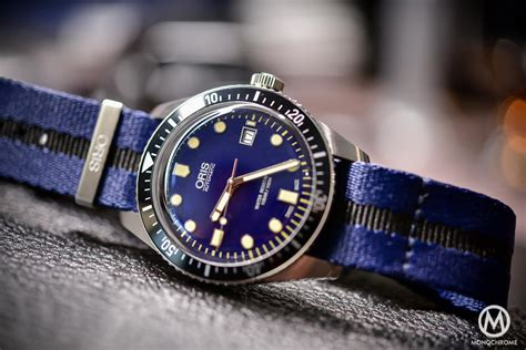 Introducing   Oris Divers Sixty Five, now in 42mm, with Blue Dial and Riveted Bracelet (hands on