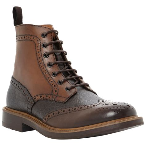 brogue boots for dune canterbury brogue boots in brown for multi brown