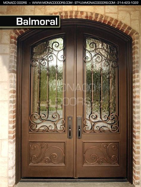 Wrought Iron Glass Doors Wrought Iron Glass Doors Monaco Doors