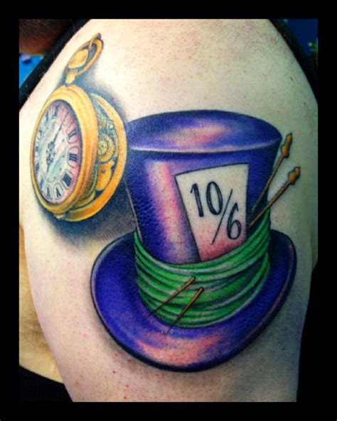 mad tattoos designs mad hatter hat tattoos