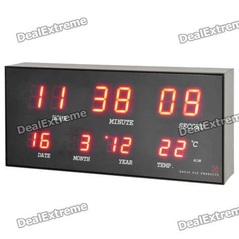 Gforce Power Led Calendar Clock by Ac Powered Led Digital Clock Calendar Alarm