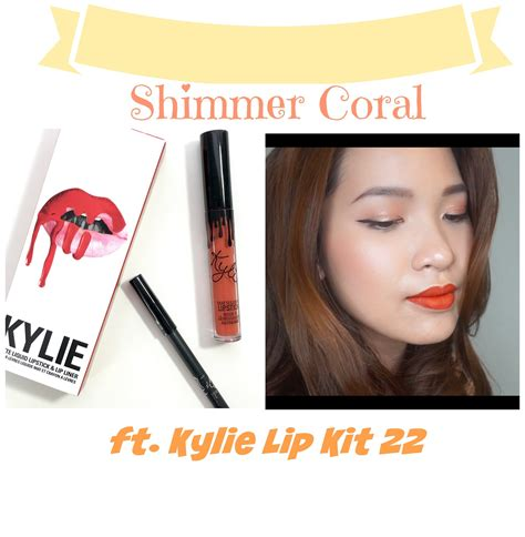 Lip Kit Warna 22 shimmer coral ft lip kit 22 try on haul by the make a holics