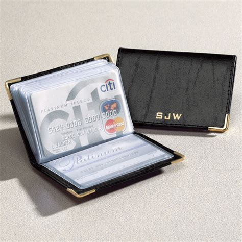 Personalized Leather Credit Card Holder Walter