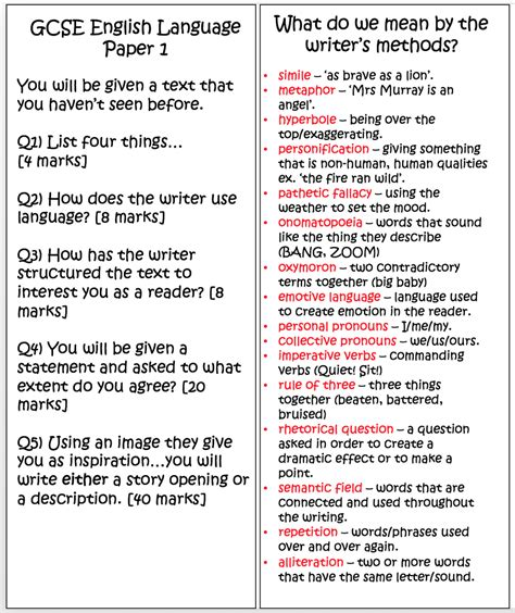gcse english language for gcse english language paper one bookmarks escapades in teaching
