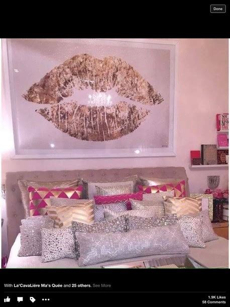 Get That Pillow Lipped Look Instantly With These Lip Plumper Tips by Home Accessory Pillow Pillow Gold White Pink