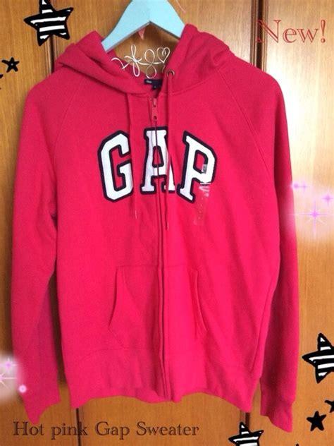 Hoodie Zipper Sweater Gap gap pink sweater jumper zipper jacket hoodie zip new 183 sweetsixteen 183 store powered