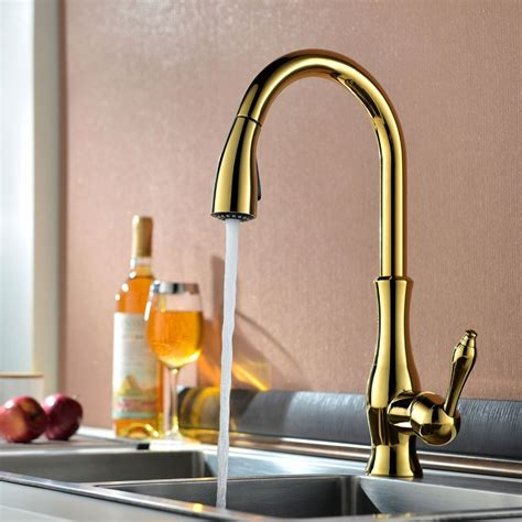 brass faucet kitchen moen polished brass kitchen faucets