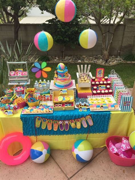 summer party ideas swimming pool summer party summer party ideas photo 1 of 36 catch my party