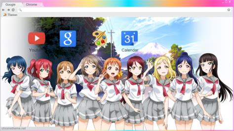 google chrome themes love live love live sunshine aqours chrome theme themebeta