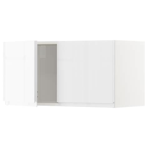 ikea high gloss kitchen cabinet doors metod wall cabinet with 2 doors white voxtorp high gloss