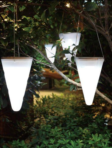 hanging solar lights for trees solalux set of 3 solar outdoor garden hanging tree cornet