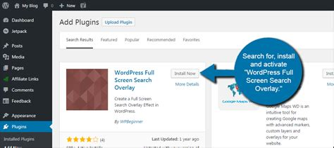 full tutorial of wordpress how to set wordpress to use a full screen search overlay