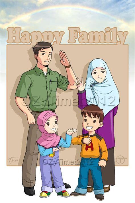 happy family kartun dakwah islam kumpulan gambar kartun islami