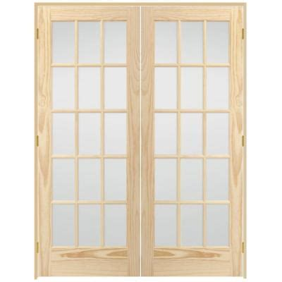 home depot french doors interior steves sons 60 in x 80 in 15 lite glass solid core