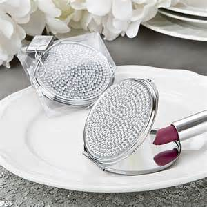 Mirror Favors by Bling Collection Metal Compact Mirror Wedding Favors