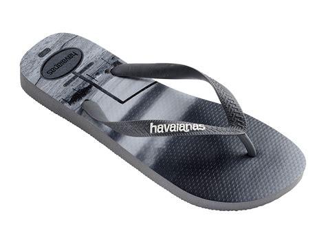 havaianas comfortable grey men s flip flops printed black and white landscape