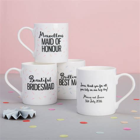 design mug wedding personalised bridesmaid wedding mug by posh totty designs