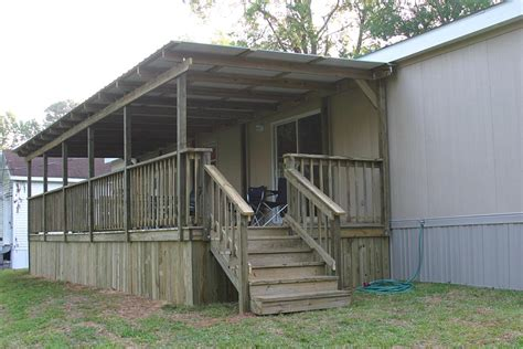 decks and porches the mobile home