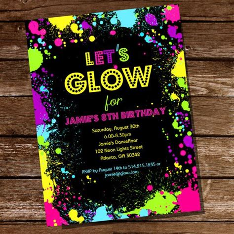 25 best ideas about neon party invitations on pinterest