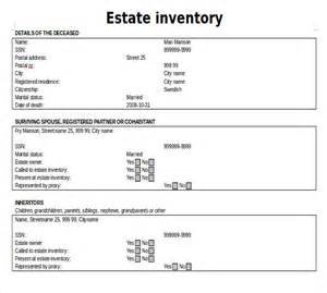 real estate documents templates estate inventory template 12 free word excel pdf