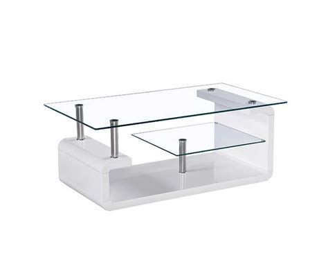 glass top white lacquer coffee table bm 12 contemporary
