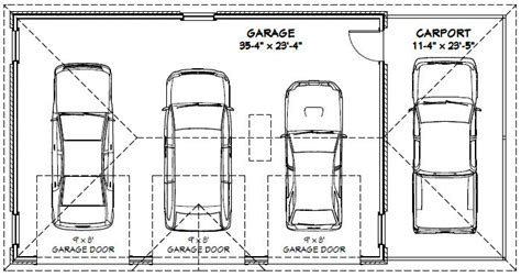 average size of one car garage