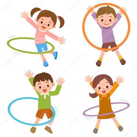 imagenes de niños jugando hula hula ni 241 os para el aro del hula vector de stock 169 ankomando