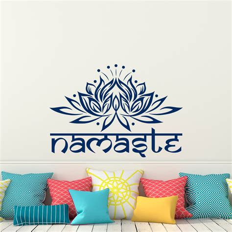 lotus flower wall decal namaste wall stickers home