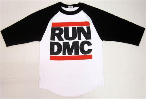 t shirt run dmc l p run dmc jmj retro t shirt rap hip hop raglan baseball