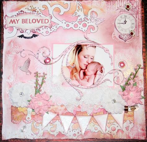 scrapbook layout ideas for baby girl baby girl scrapbook layout scrapbooking pinterest