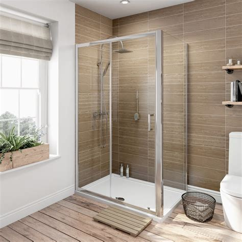 Shower Enclosure by Orchard 6mm Sliding Door Rectangular Shower Enclosure