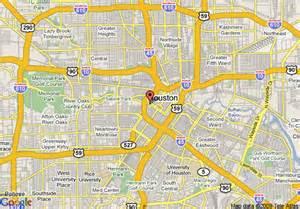 map of downtown houston map of doubletree houston downtown houston