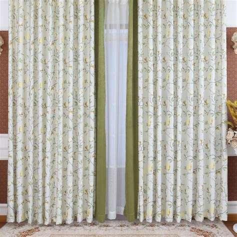 Green And White Patterned Curtains Inspiration Panel
