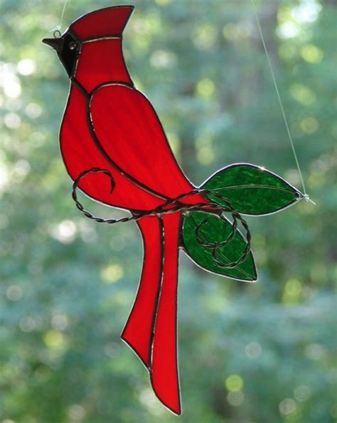 stained glass cardinal glasses window  birds