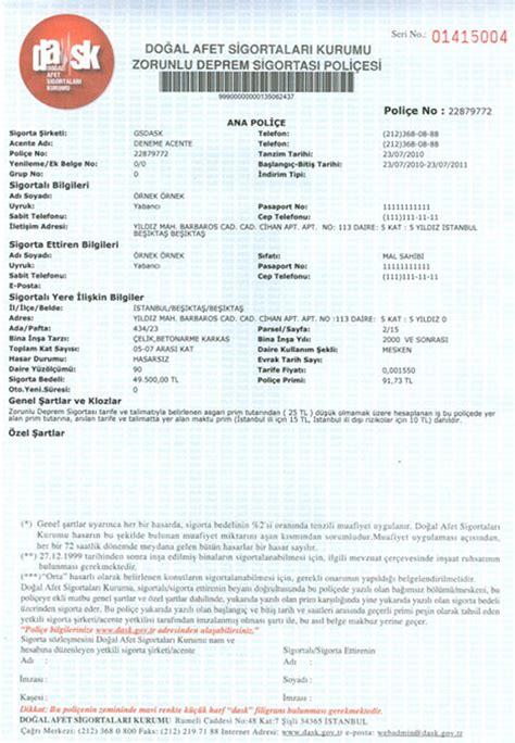 tekne vergisi hesaplama zorunlu deprem sigortası poli 231 e 214 rneği