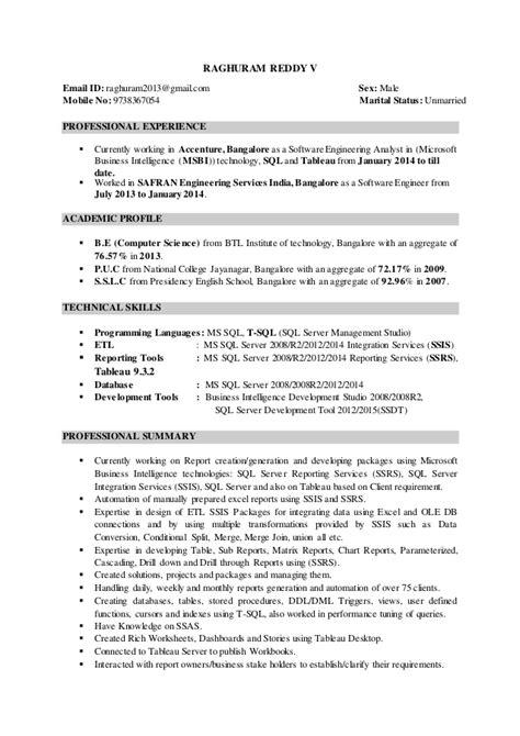 Tableau Resume by Tableau Resume Resume Ideas