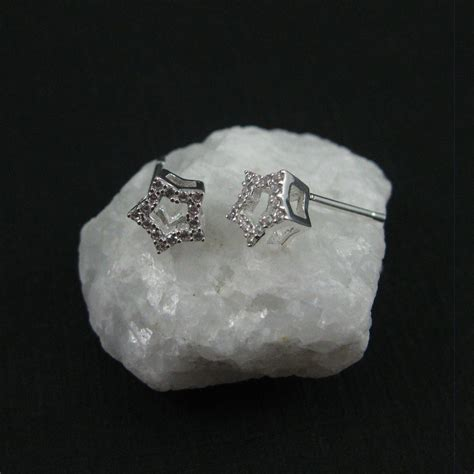 Cz Studs sterling silver earrings cz cubic zirconia earring