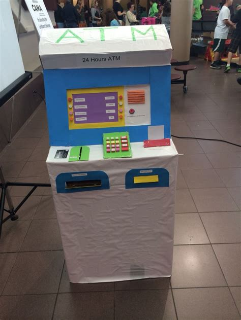 how to make your own debit card cardboard atm machine when you the card then money