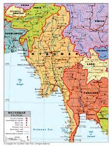 political map of myanmar political map of myanmar by bestcountryreports