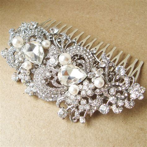 Vintage Bridal Hair Comb Etsy by Vintage Style Bridal Hair Comb Deco By
