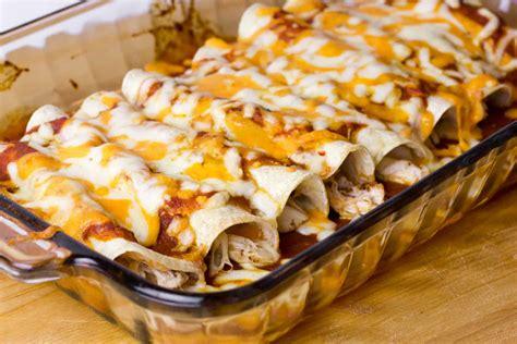 chicken enchiladas  red sauce easy recipe