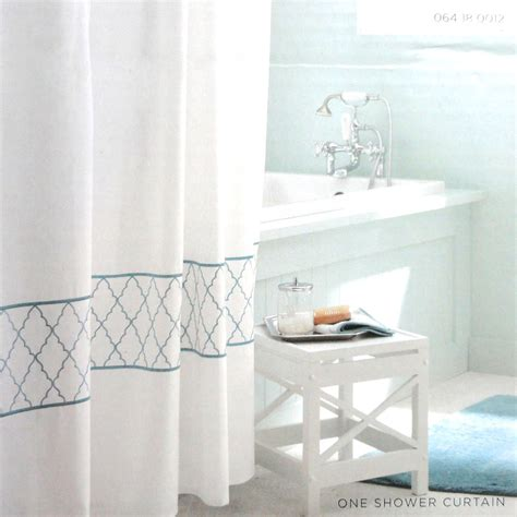 target home shower curtain target home embroidered ogee fabric shower curtain blue