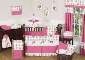 pink owl baby bedding set 9pc owl nursery crib