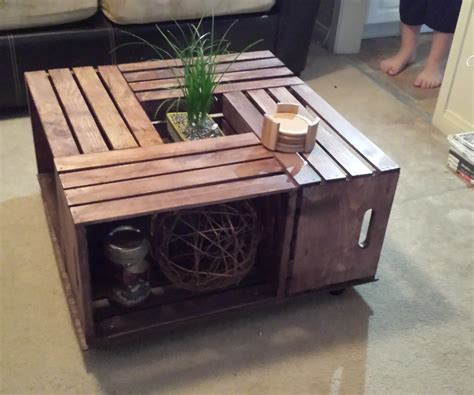 Coffee Table Crate Wood Crate Table Www Pixshark Images Galleries With A Bite
