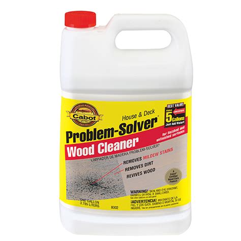 gal cabot stains  problem solver wood cleaner