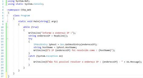 convertendo um endereco ip   hostname  vice versa