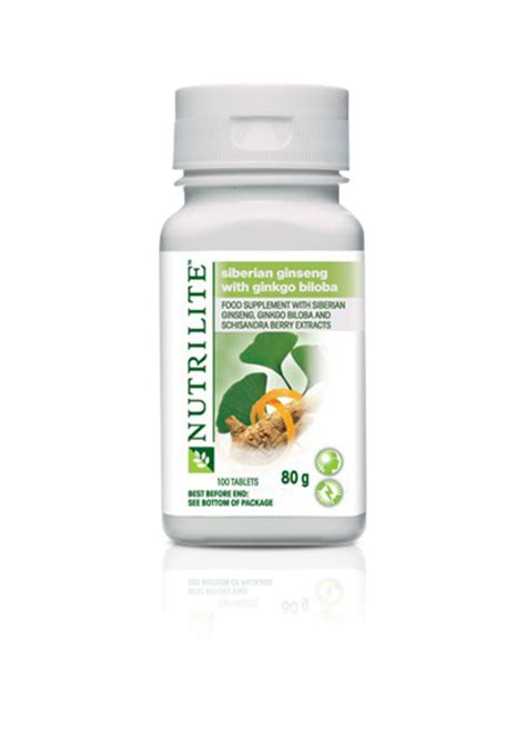 Nutrilite Siberian Ginseng With Ginkgo Biloba nutrilite siberian ginseng with ginkgo biloba 100 tablets vitamins supplements amway
