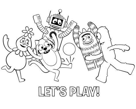 yo gabba gabba coloring pages coloring pages to print