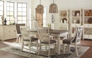 Ashley Furniture Dining Room Table bolanburg white and gray rectangular dining room set d647
